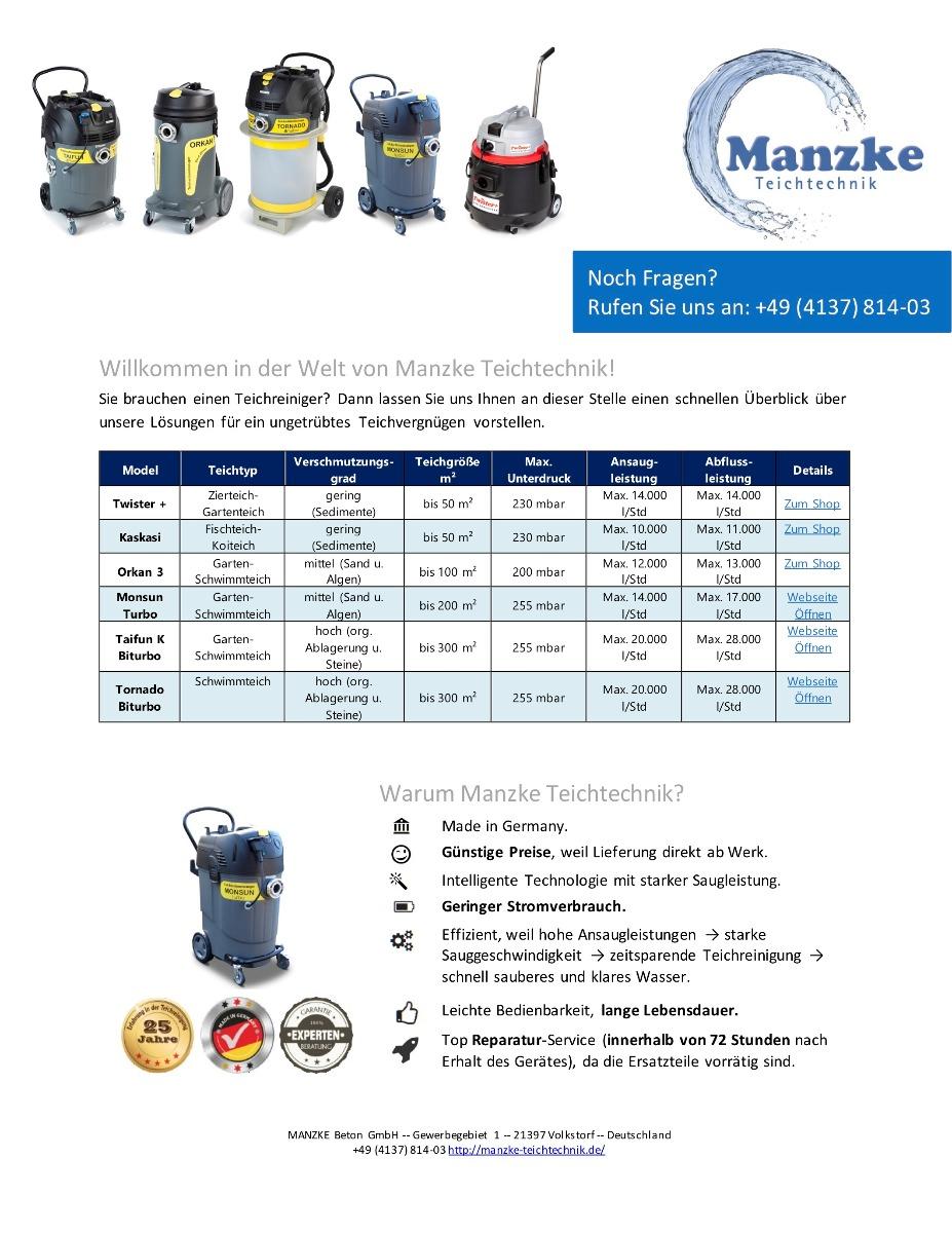 Manzke - Teichtechnik